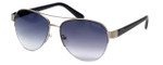 Guess  Designer Sunglasses GUF254 in Silver Frame with Grey Gradient Lens
