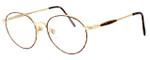 Fashion Optical Designer Eyeglasses Novara in Gold Demi Amber 51mm :: Custom Left & Right Lens