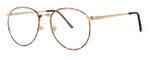 Fashion Optical Designer Eyeglasses E788 in Gold Amber 51mm :: Custom Left & Right Lens