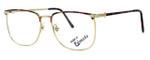Fashion Optical Designer Eyeglasses E2055 in Gold Demi Amber 57mm :: Custom Left & Right Lens