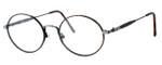 Regency International Designer Eyeglasses Prep in Dark Amber & Antique Silver 49mm :: Custom Left & Right Lens