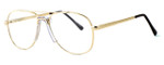 Fashion Optical Designer Eyeglasses Michael in Gold 48mm :: Rx Single Vision