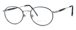 Regency International Designer Eyeglasses Hampton in Silver Black 52mm :: Rx Single Vision
