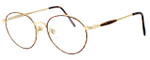 Fashion Optical Designer Eyeglasses Novara in Gold Demi Amber 51mm :: Rx Bi-Focal
