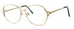 Fashion Optical Designer Eyeglasses E1013 in Gold Pink 57mm :: Rx Bi-Focal