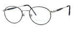 Regency International Designer Reading Glasses Hampton in Silver Black 52mm