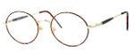 Regency International Designer Reading Glasses Prep in Amber & Gold 49mm