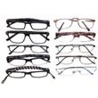 Mens Designer Reading Glasses Variety Pack :: BRONZE