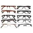Mens Designer Reading Glasses Variety Pack :: SILVER