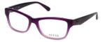 Guess Designer Reading Glasses GU2423-DKPUR in Dark-Purple