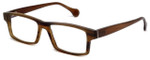 Calabria Elite Designer Eyeglasses CEBH119 in Tan Horn :: Custom Left & Right Lens