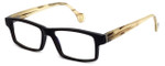 Calabria Elite Designer Eyeglasses CEBH120 in Grey Horn & Tan Horn :: Custom Left & Right Lens