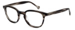 Calabria Elite Designer Eyeglasses CE112 in Grey Stripe :: Rx Single Vision