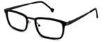 Calabria Elite Designer Eyeglasses CE113 in Black & Gunmetal :: Rx Single Vision