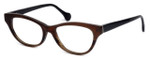 Calabria Elite Designer Eyeglasses CEBH123 in Grey & Brown Horn :: Rx Single Vision