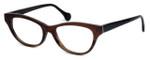 Calabria Elite Designer Eyeglasses CEBH123 in Grey & Brown Horn :: Rx Single Vision