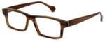 Calabria Elite Designer Eyeglasses CEBH119 in Tan Horn :: Progressive