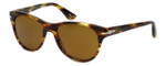 Persol Designer Sunglasses PO3134S-938/33 in Green-Stripe & Brown Lens