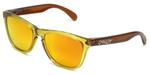 Oakley Designer Sunglasses Frogskins in Octane & Fire Iridium Lens (OO9013-39)