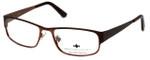Argyleculture by Russell Simmons Designer Eyeglasses Morton in Dark-Brown :: Rx Single Vision