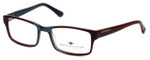 Argyleculture by Russell Simmons Designer Eyeglasses Mobley in Grey-Red :: Rx Bi-Focal