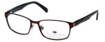Argyleculture by Russell Simmons Designer Reading Glasses Django in Brown-Blue