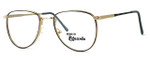 Regency International Designer Eyeglasses Dover in Gold Grey 55mm :: Custom Left & Right Lens