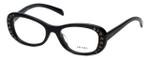 Prada Designer Eyeglasses VPR21R-1AB101 in Black 53mm :: Custom Left & Right Lens