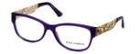 Dolce & Gabbana Designer Eyeglasses DG3185-2677 in Violet 55mm :: Custom Left & Right Lens