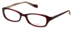 Oliver Peoples Designer Eyeglasses Marcela SI in Burgundy 51mm :: Custom Left & Right Lens