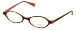 Oliver Peoples Designer Eyeglasses Carina OTPI in Brown Stripe 44mm :: Rx Single Vision