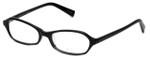 Oliver Peoples Designer Eyeglasses Fabi BK in Black 50mm :: Rx Single Vision