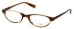 Oliver Peoples Designer Eyeglasses Mia ST in Brown Horn 47mm :: Rx Single Vision