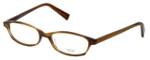Oliver Peoples Designer Eyeglasses Raquel SYC in Brown Horn 51mm :: Rx Single Vision