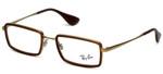 Ray-Ban Designer Eyeglasses RB6337-2858 in Brown  51mm :: Custom Left & Right Lens