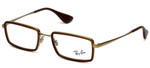 Ray-Ban Designer Eyeglasses RB6337-2858 in Brown  51mm :: Rx Single Vision