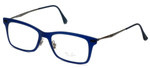 Ray-Ban Designer Eyeglasses RB7039-5451 in Matte-Blue 51mm :: Rx Single Vision