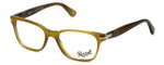 Persol Designer Eyeglasses PO3003V-1018 in Stripped Light Havana 52mm :: Rx Single Vision