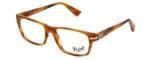 Persol Designer Eyeglasses PO3096V-960 in Stripped Brown 53mm :: Rx Single Vision