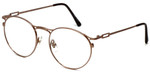 Regency Designer Eyeglasses New York in Brown 51mm :: Rx Single Vision
