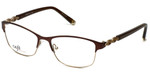 Silver Dollar Designer Eyeglasses CB1013 in Chocolate 52mm :: Custom Left & Right Lens