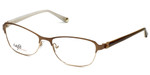 Silver Dollar Designer Eyeglasses CB1025 in Camel 53mm :: Custom Left & Right Lens