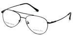 Silver Dollar Designer Eyeglasses Gunnison in Satin Black 56mm :: Rx Single Vision