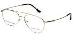 Silver Dollar Designer Eyeglasses Gunnison in Gold 54mm :: Rx Single Vision