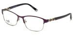 Silver Dollar Designer Eyeglasses CB1013 in Amethyst 52mm :: Progressive
