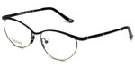 Silver Dollar Designer Reading Glasses Cashmere 459 in Caviar 52mm