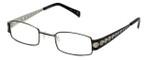 Cinzia Designer Eyeglasses Industrial C1 in Black Silver 44mm :: Custom Left & Right Lens