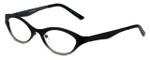 Cinzia Designer Eyeglasses Jitterbug C2 in Black Gunmetal 46mm :: Custom Left & Right Lens