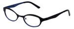 Cinzia Designer Eyeglasses Splendid C2 in Black Blue 46mm :: Custom Left & Right Lens