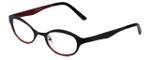 Cinzia Designer Eyeglasses Splendid C3 in Black Red 46mm :: Custom Left & Right Lens